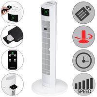 Monzana® Turmventilator mit Fernbedienung weiß Timer 90° Oszillationswinkel 3 Geschwindigkeitsstufen leise Standventilator Ventilator
