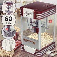Jago® Popcornmaschine Retro - 60L/h, 200g/10min, Edelstahl Topf, für salziges Popcorn - 50er Jahre Look, Profi Popcorn Maker, Zubereiter, Automat