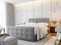 Boxspringbett Schlafzimmerbett MAURO 180x200cm Grau inkl.Bettkasten