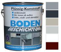 Flüssig Kunststoff 5L Bodenbeschichtung 50m² Betonfarbe Beton Beschichtung, Farbe:Silbergrau