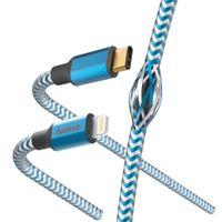Hama 00183311, 1,5 m, Lightning, USB C, Männlich, Männlich, Blau, Silber