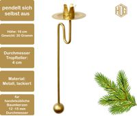 Baumkerzenhalter Balancehalter 12 er Set in gold