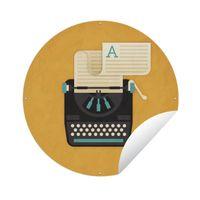 Gartenposter Rund - Illustration der Schreibmaschine - Ø 120 cm