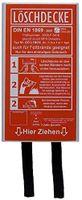 Löschdecke 1 x 1 m in einer Box, DIN EN, auch für Fettbrände Fettbrand Küche Brandschutzdecke Feuerlöschdecke Auto 100 x 100 cm (1 Stück Box weiß)
