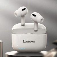 Lenovo LP1S Drahtlose Kopfhörer, Bluetooth Ohrhörer Drahtlose Kopfhörer 5.0, Tragbare Lade Fall, Touch Control für Laufende Sport Weiß 11,70 x 9,60 x 3,40 cm Ohrhörer (im Ohr)