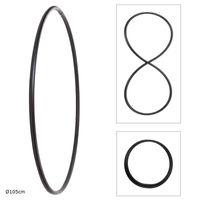 Faltbarer Hula Hoop, PE-20mm, Schwarz,  Ø105 cm