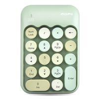 Mofii X910 2.4G Drahtlose Tastatur Numerische Tastatur Tragbar 18 Tasten Tastatur des Finanzbuchhaltungsbueros Gruen (Mischfarbe)