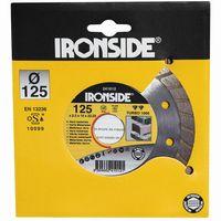 Ironside 241-012 Diamant Schleifscheibe 125mm 2,2/10mm Turbo 1000, Rand geschl., grau