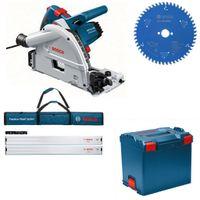 Bosch Tauchkreissäge GKT 55 GCE L-Boxx + Set 2x FSN 1600 + HM-Blatt 160x20 Z. 52