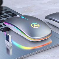Optische Funkmaus kabellos USB Maus PC Stumm Mouse Computer Laptop Notebook Funkmaus,Silber
