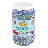 Hama Midi Bügelperlen 211-69 Dose 13000 Vollton gemischt 11 versch. Farben