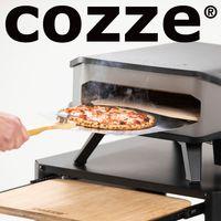 COZZE® Pizza-Gas-Ofen Profi bis 400° Grad mit 34x34 cm Pizzastein - tragbarer Pizzaofen Steinofen-Pizza