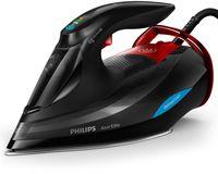 Philips Dampfbügeleisen mit 3.000 W und OptimalTEMP Technologie, Dampfbügeleisen, SteamGlide Advanced, 2,5 m, 260 g/min, Schwarz, Rot, 70 g/min