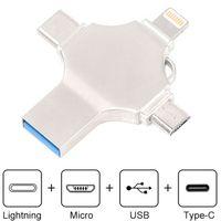 4 in 1 Adapter Typ C USB 3.0 Micro-USB Flash Drive OTG Speicherstick USB-Stick 32G