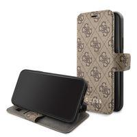 ORIGINAL Guess 4G Book Case Charms für iPhone 11 braun