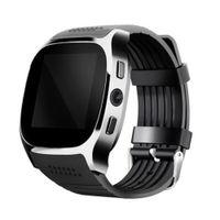 Wasserdicht Sport Übung Bluetooth Kamera Schrittzähler Armband Smart Watch schwarz