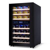 Kalamera Weinkühlschrank 2 Zonen,45 Flaschen,Kompressor,120 Liter,Freistehend,KRC-120BFG