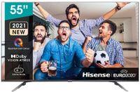 Hisense 55E76GQ QLED 139cm (55 Zoll) Fernseher (4K QLED, Smart TV, Triple Tuner, HDR 10, HDR 10+ decoding, Dolby Vision & Atmos, USB-Recording, Bluetooth, Alexa Built-In, Google Assistant)