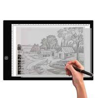A3 LED Zeichenbrett Zeichnung Tracing Grafiktablett Dimmbar Lightpad USB