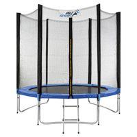 ArtSport Outdoor Trampolin Jampino Ø 244 cm – Kindertrampolin mit Sicherheitsnetz, Leiter & Randabdeckung – Gartentrampolin Kinder