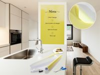 Whiteboardfolie 60 x 300 cm gelb