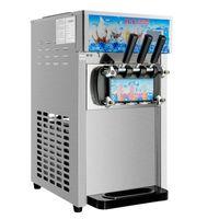 Blueweiqi  1200W 3 Sorten Softeismaschine Speiseeismaschine Eiscrememaschine