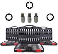 Innen Vielzahn Nüsse Torx Werkzeug Set Sechskant Steckschlüssel Satz Steck Nuss als 3 Koffer Bit-Set 88 Teile und Aufsätze für den Schrauber