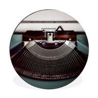 Aluminium Wandkreis - Schreibmaschine - Retro - Briefe - Ø 90 cm