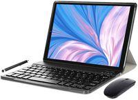 YOTOPT Tablets 10 Zoll mit Tastatur und Maus, Android 10.0 Octa-Core 1,6 GHz, 4G LTE Tablet, 4 GB RAM, 64 GB ROM, GPS / OTG / Bluetooth, N10, Farbe: Schwarz