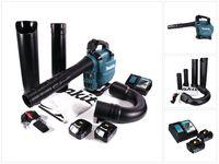 Makita DUB 363 RT2V Akku Gebläse / Laubsauger 36 V ( 2x 18 V ) Brushless + Absaug Set + 2x Akku 5,0 Ah + Ladegerät