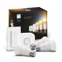 Philips Hue Bluetooth White Ambiance LED E27 75W 800lm Dreierpack inkl. Bridge & Dimmschalter