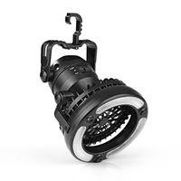 Mini Ventilator m. LED Lampe leise lüfter mobil batterie camping clip watt klein