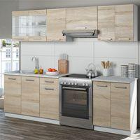 Vicco Küche Raul Küchenzeile Küchenblock Einbauküche 240 cm Sonoma