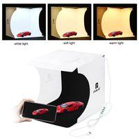 PULUZ Mini Folding Lightbox Fotografie Fotostudio LEDs Panel Light Softbox Foto Hintergrund Kit