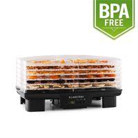 Klarstein Bananarama - Dörrgerät, Dörrautomat, Obst-, Fleisch- und Früchte-Trockner, 6 Etagen, stapelbar, 550 W, einstellbare Temperatur, Umluftbetrieb, LCD-Display, BPA-frei, schwarz