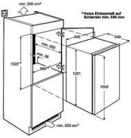 AEG SFB41011AS Kühlgerät 103er Nische