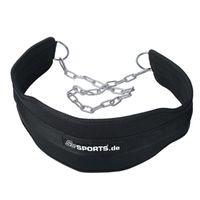 ScSPORTS® Dip-Gürtel, Gewichtheber-Gürtel aus Nylon für Zusatzgewichte, Klimmzüge & Dips mit Gewichten