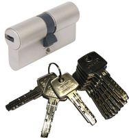 ABUS EC550 Doppelzylinder Länge (a/b) 40/40mm (c=80mm) mit 10 Schlüssel, SKG** Bohrschutz