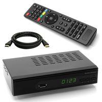 WWIO Trinity C HD Kabel Receiver + HDMI Kabel für digitales Kabelfernsehen (HDMI, SCART, USB, LAN) leistungsfähiger Chipsatz mit USB Mediaplayer (alle deutschen Kabelnetze)