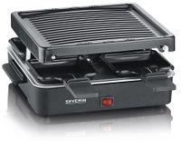 SEVERIN Mini-Raclette-Grill RG 2370 Edelstahl/schwarz