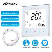 KKmoon Digitaler Fussbodenheizungs-Thermostat fuer elektrische Heizung Fussboden- und Luftsensor Energiesparend AC 95-240V 16A Touchscreen LCD-Display Raumtemperaturregler