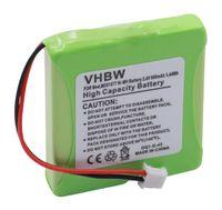 vhbw NiMH Akku 600mAh (2.4V) für schnurlos Festnetz Telefon Tevion MD81877 wie 5M702BMX, GP0827, GP0845, GPHP70-R05.
