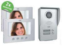 Videotürsprechanlage für 2Familienhaus mit 2 Monitor & Außenkamera Klingelanlage