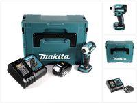 Makita DTD 171 RG1J Akku Schlagschrauber 18V 170Nm 1/4' Brushless + 1x 6,0Ah Akku + Ladegerät +  Makpac