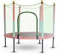 140 cm Kindertrampolin mit Sicherheitsnetz Gartentrampolin Kinder  Fitness Trampolin bis 200KG, Indoor-/Outdoortrampolin