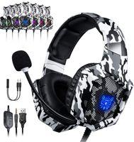 Schnelle Lieferung, Over Ear Kopfhörer, Stereo Gaming Headset Onikuma K8  Deep Bass Over Ear Game Headset mit Mikrofon LED Licht für ps4 PC