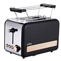 Schäfer Edelstahl 2-Scheiben-Toaster Toastautomat schwarz--goldfarbig 74183
