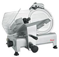 Sirge AFFPROF30 Profi Aufschnittmaschine 300 mm 420 Watt Allesschneider Schneidemaschine Schrägschneidermit 3 Sicherheitsmaßnahmen