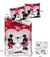 Disney bettbezug Mickey & Minnie 140 x 200 cm Polyester rot