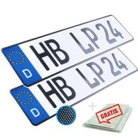 2 Kennzeichen Carbon Optik 52 x 11cm Wunschennzeichen  PKW Autokennzeichen Kfz